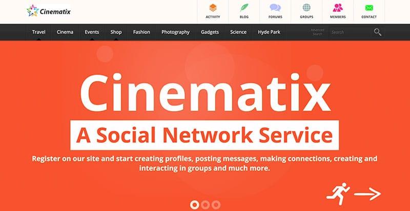 Cinematix BuddyPress Theme