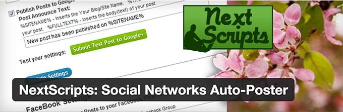 NextScripts Social Networks Auto Poster (SNAP)