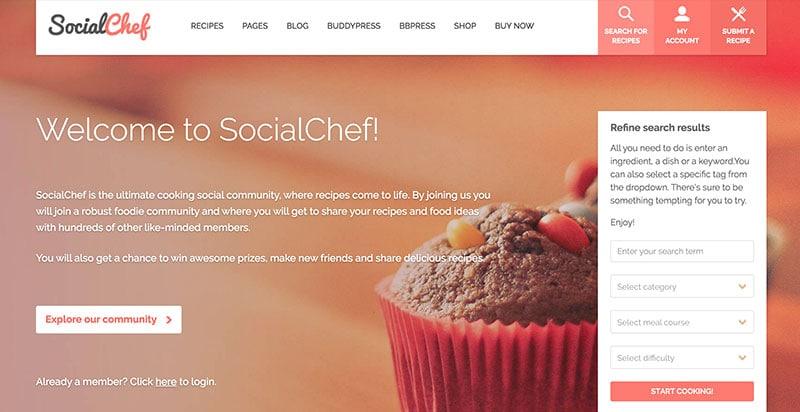 SocialChef WordPress Theme