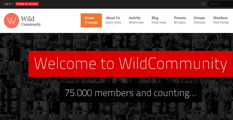 Wild Community BudyPress Theme