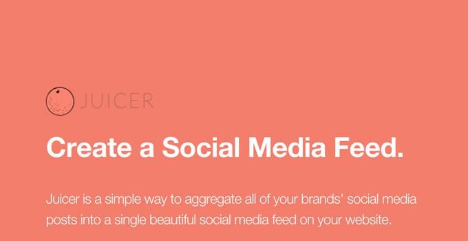 Juicer Social Media Feeds