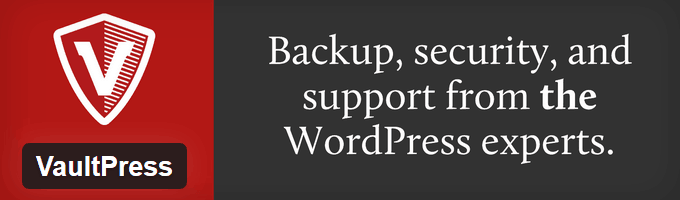 VaultPress WordPress Backup Plugin