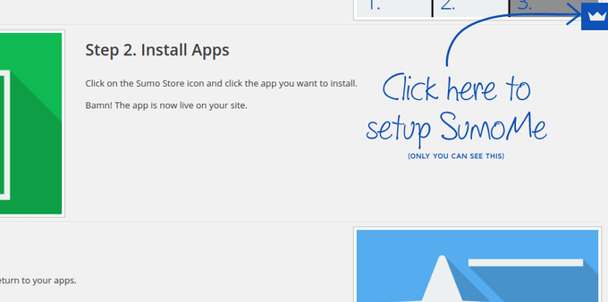 Click Here to Set-Up SumoMe Screenshot