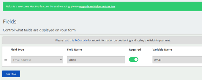 Customize the Fields