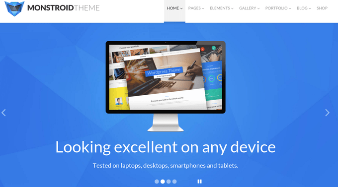 Monstroid Themes Main Page
