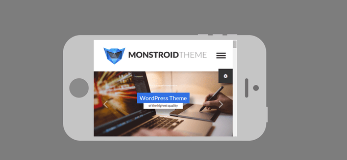 Monstroid Theme on Phone