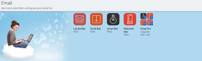Click on the free Welcome Mat icon