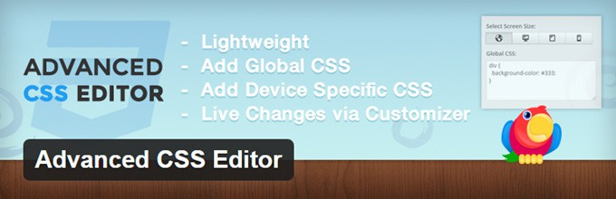 Advanced CSS Editor for WordPress