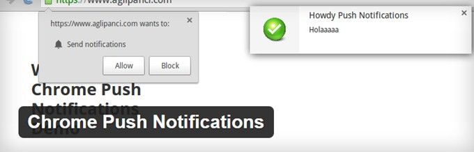 Chrome Push Notifications WordPress Plugin