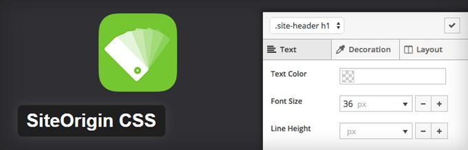 SiteOrigin WordPress CSS Plugin