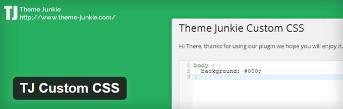 TJ Custom CSS WordPress Plugin