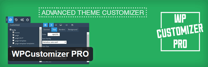 WPCustomizer Pro WordPress CSS Plugin