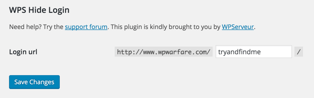 WordPress Custom Login URL Plugin