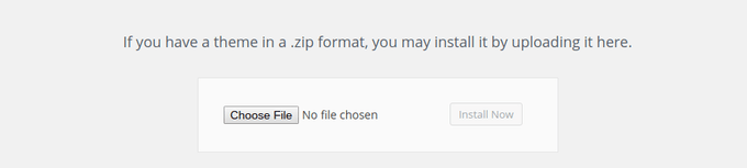 Choose file and activate