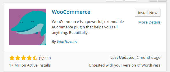 Install WooCommerce Now
