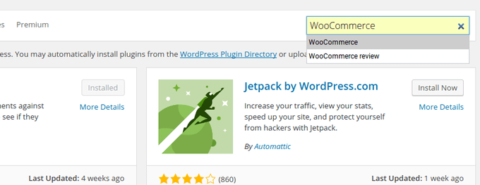Type in WooCommerce