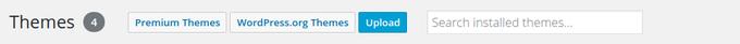 Upload WooCommerce Theme