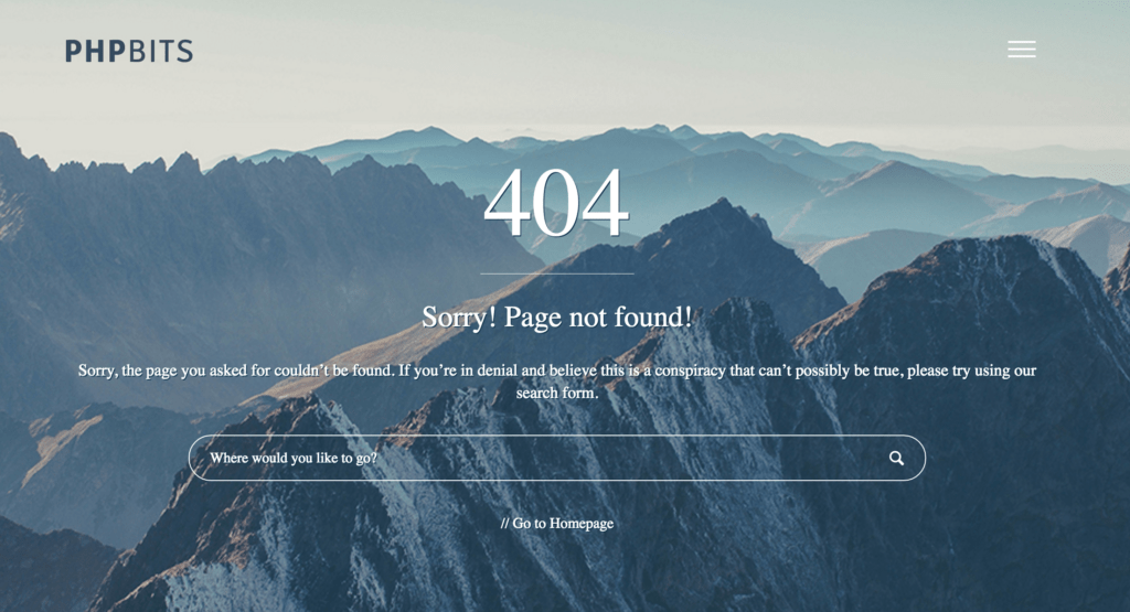 Custom And Responsive WordPress 404 Page