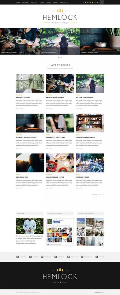 Hemlock, Blogging Theme, WordPress Theme