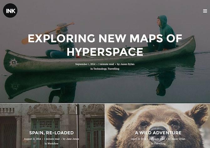 Ink, Blogging Theme, Blggers, WordPress Theme