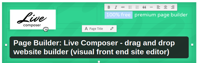 Page Builder Live Composer - Drag & Drop Website Builder for WordPress