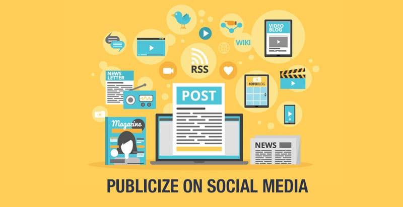 Publicize On Social Media Using WordPress Social Media Plugins