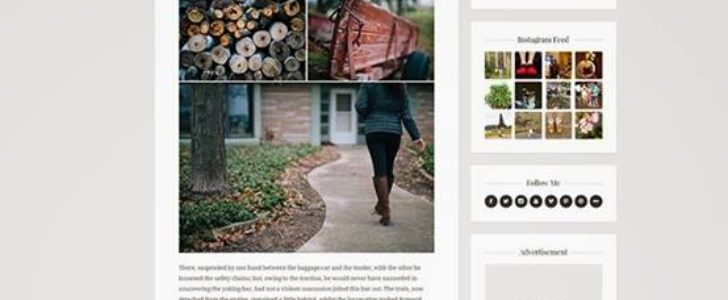 Shiroi Hana, Blogging Theme, WordPress Theme