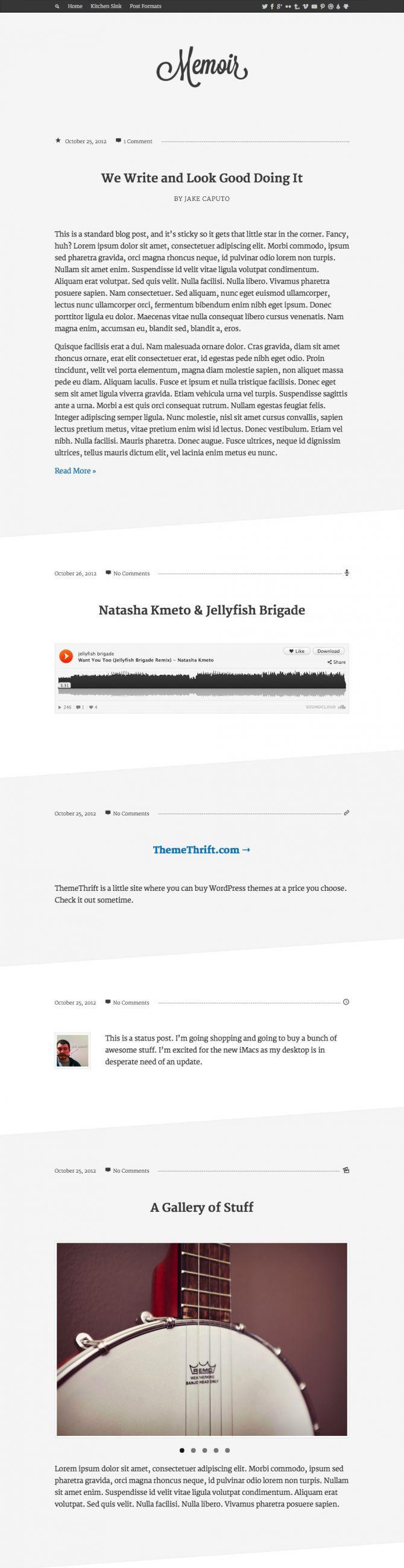 Memoir, Blogging Theme, WordPress Theme
