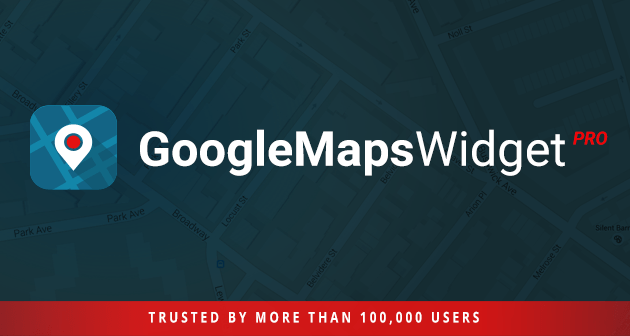Google Maps widget for WordPress