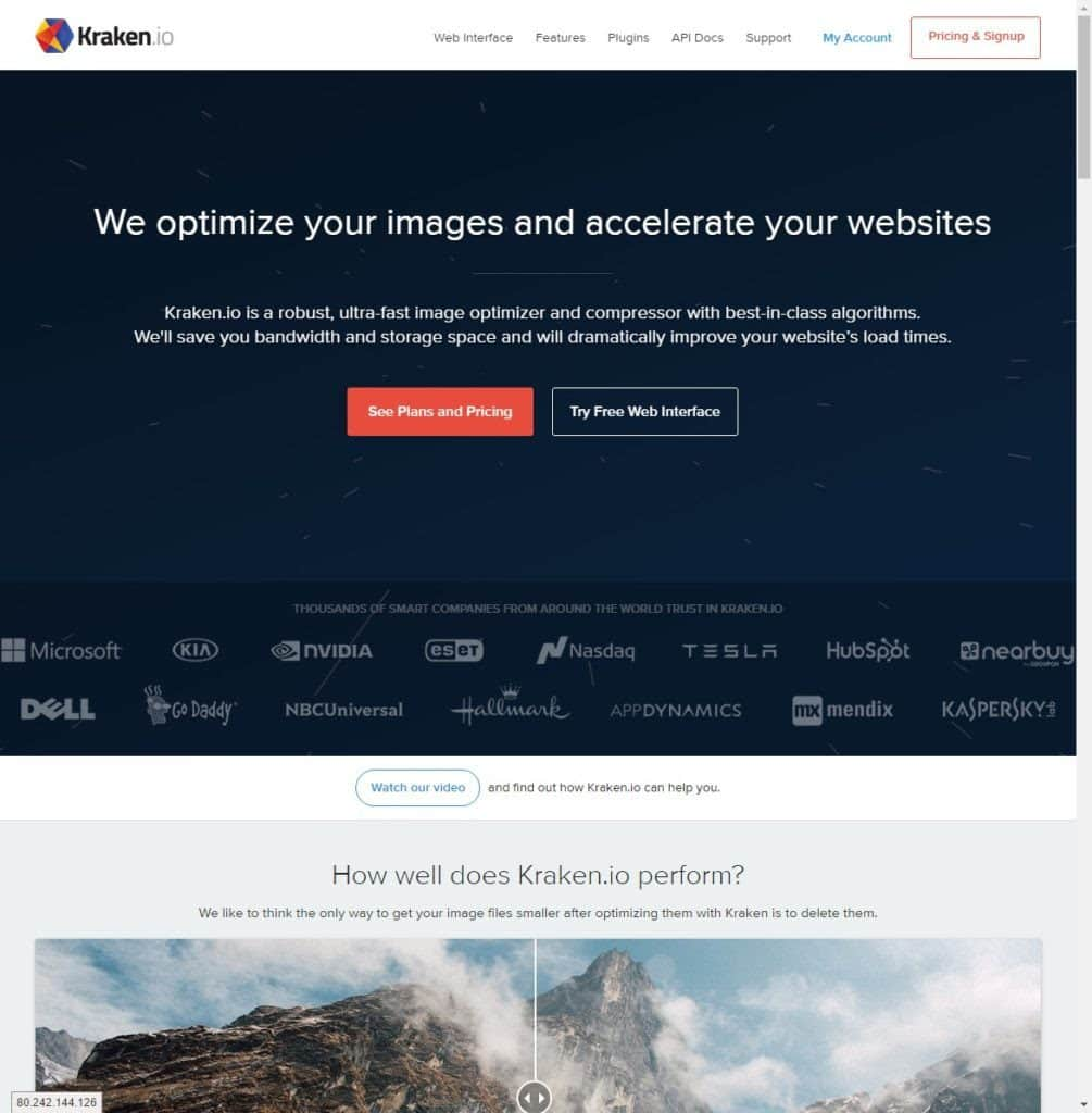 Kraken.io - image optimizer and compressor for WordPress