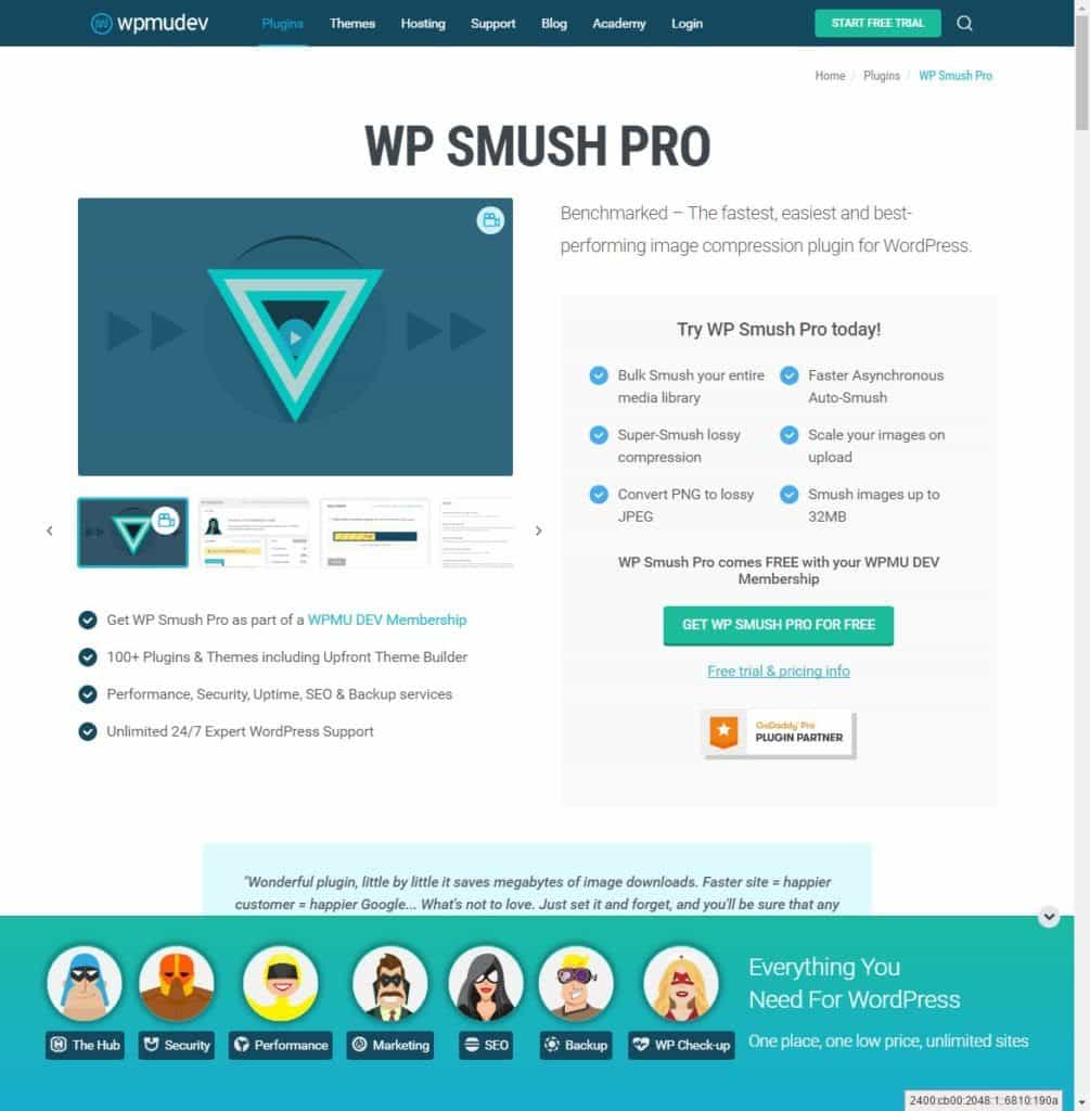 WP Smush PRO - image compression plugin for WordPress