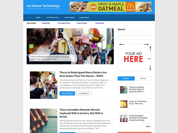 Ad-Sense - SEO Optimized WordPress Theme