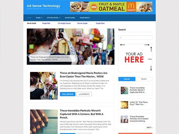 Ad-Sense - SEO Optimized WordPress Theme