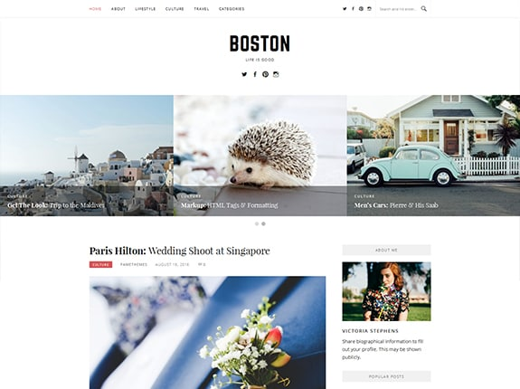Boston Pro WordPress Theme