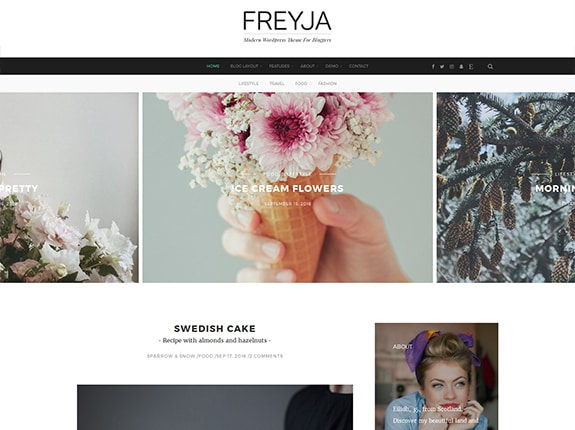 FREYJA SEO Optimized WordPress Theme