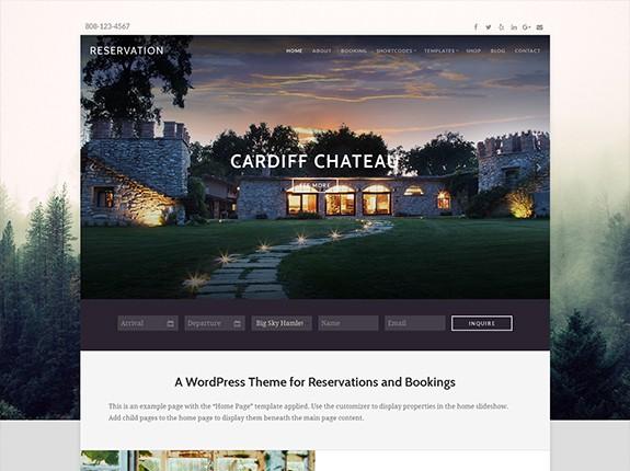 Reservation WordPress Theme