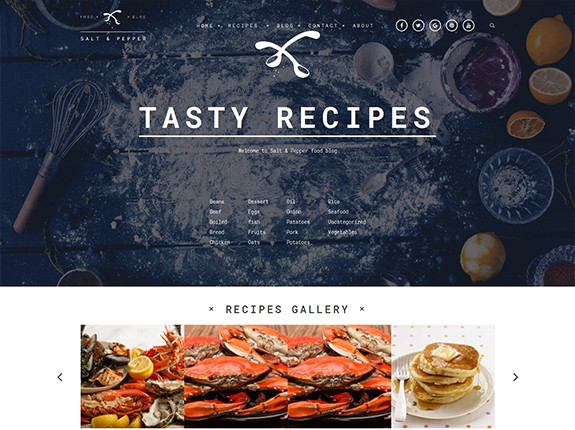 Salt and Pepper WordPress Theme