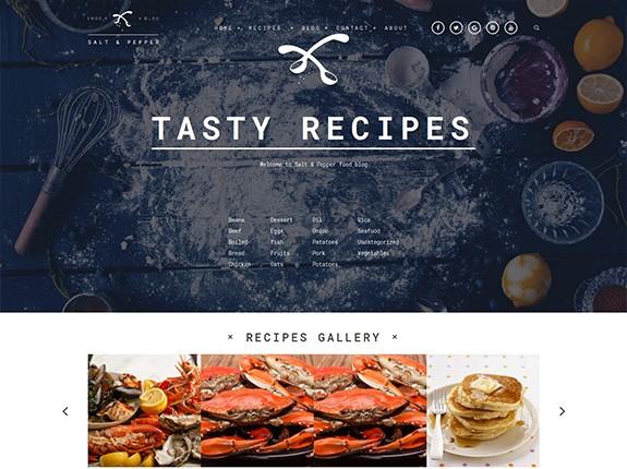 Salt and Pepper WordPress Theme