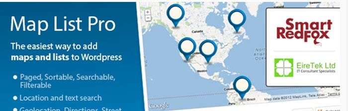 Map List Pro - Google Maps