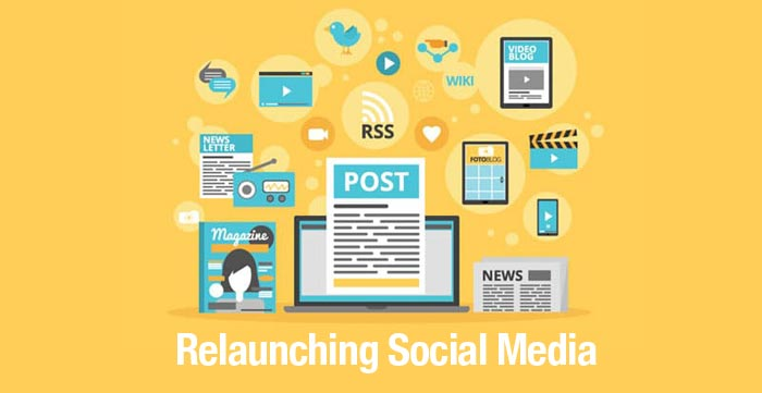 Relaunching social media