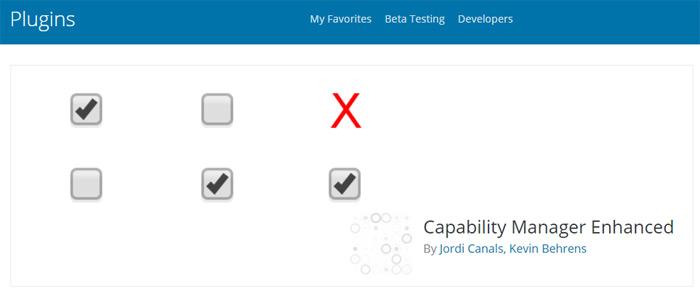 Capability Manager Enhanced plugin