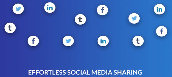 Effortless social media sharing
