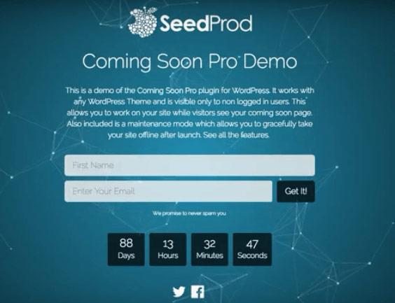 SeedProd - WordPress Coming Soon Plugin