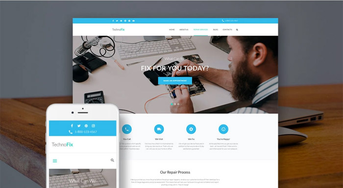 Tech Repair Company Theme