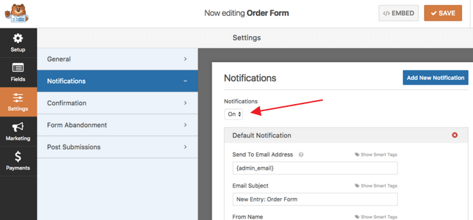 WPForms - Email Notifications