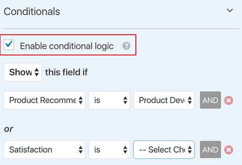 WPForms - Smart Conditional Logic