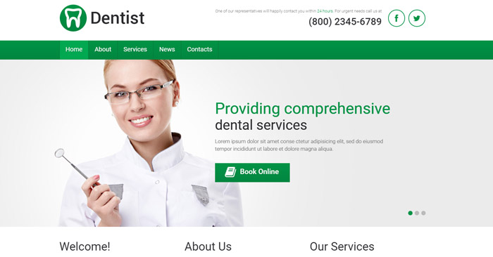 Best Dentist Responsive WordPress Theme