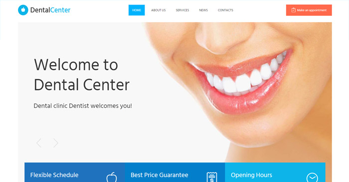 Dental Center Responsive WordPress Theme