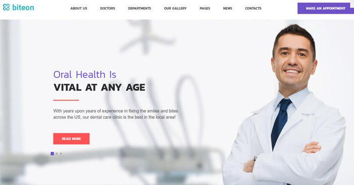 Dentistry Clinic Responsive WordPress Them