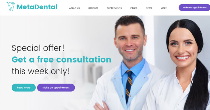 Private Dental Clinic Responsive WordPress Theme